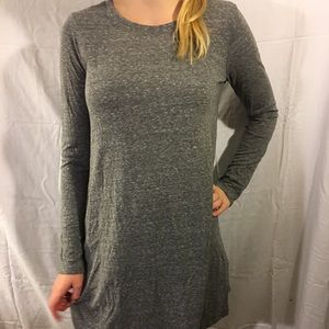 Forever 21 long sleeve gray dress